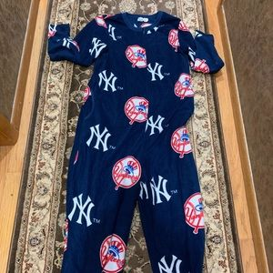 NY Yankees Onesie Pajama with Feet